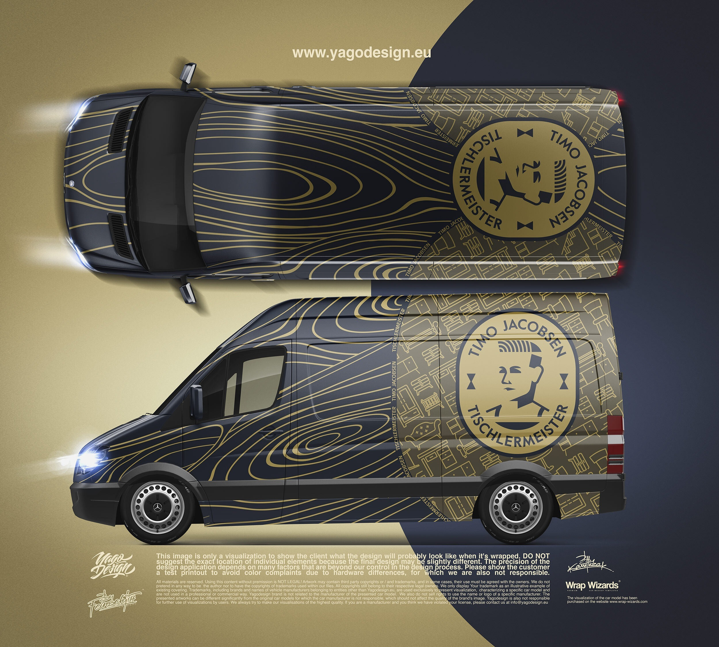 Car Wrapping Mercedes Benz Sprinter